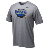 Hiteon 09: Adult-Size - Nike Team Legend Short-Sleeve Crew T-Shirt - Gray