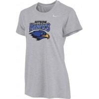 Hiteon 13: Nike Women's Legend Short-Sleeve Training Top - Gray