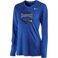 Hiteon 18: Nike Women's Legend Long-Sleeve Training Top - Royal Blue