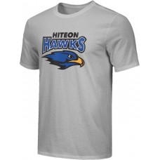Hiteon 04: Youth-Size - Nike Combed Cotton Core Crew T-Shirt - Gray