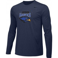 Hiteon 17: Youth-Size - Nike Team Legend Long-Sleeve Crew T-Shirt - Navy Blue