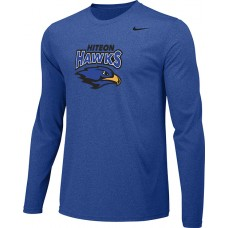 Hiteon 14: Adult-Size - Nike Team Legend Long-Sleeve Crew T-Shirt - Royal Blue